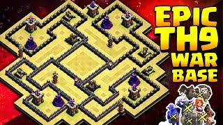Town Hall 9 War Base | Epic TownHall 9 Warbase | Anti Everything | Coc