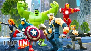 THE AVENGERS Cartoon Movie Game for Kids - Super Heroes Videos for Children - Disney Infinity 2.0 width=