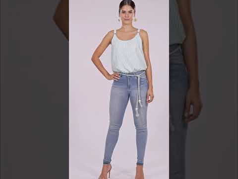 Calça Jeans Cinto Corda Lez a Lez