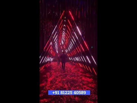 3D LED Triangle Entry Entrance Wedding Decoration Chennai | Bangalore | Hyderabad +91 81225 40589