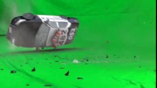 CAR CRASH  GREEN SCREEN