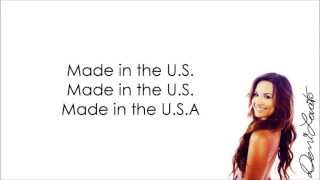 Made in the USA - Demi Lovato (Lyrics) HD