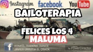 Como bailar Felices los 4 - Maluma feat Dj GUTII by Javier El Crack Romeo theking Zumba