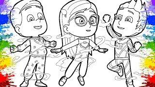 Desenho de Pintar para Crianças - PJ Masks em Português | Desenhos Animados | Pintura Infantil