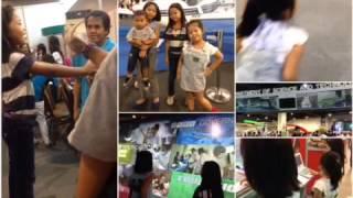Sofia with cousins on science fair