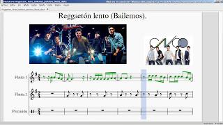 Reggaetón Lento (Bailemos).CNCO. Partitura Flauta.