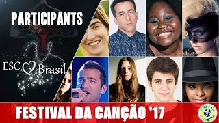 Meet who will sing in the SF1 of Festival da Canção (Portugal) 2017