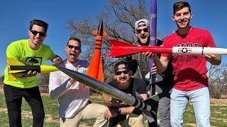 Model Rocket Battle | Dude Perfect width=