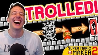 Getting TROLLED In Mario Maker 2 Is Already AMAZING!!!
