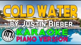 COLD WATER KARAOKE PIANO VERSION (by Justin Bieber) HD ✔