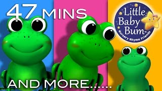 Five Little Speckled Frogs | Plus Lots More Nursery Rhymes | 47 Mins Compilation from LittleBabyBum width=