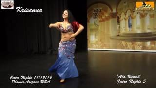 Belly Dancer Krisenna  dancing to 'Ala Remsh' Cairo Nights in Phoenix