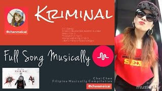 ♥ Kriminal ♥ Musically 2016 (Full Song) | Pinoy Musical.ly