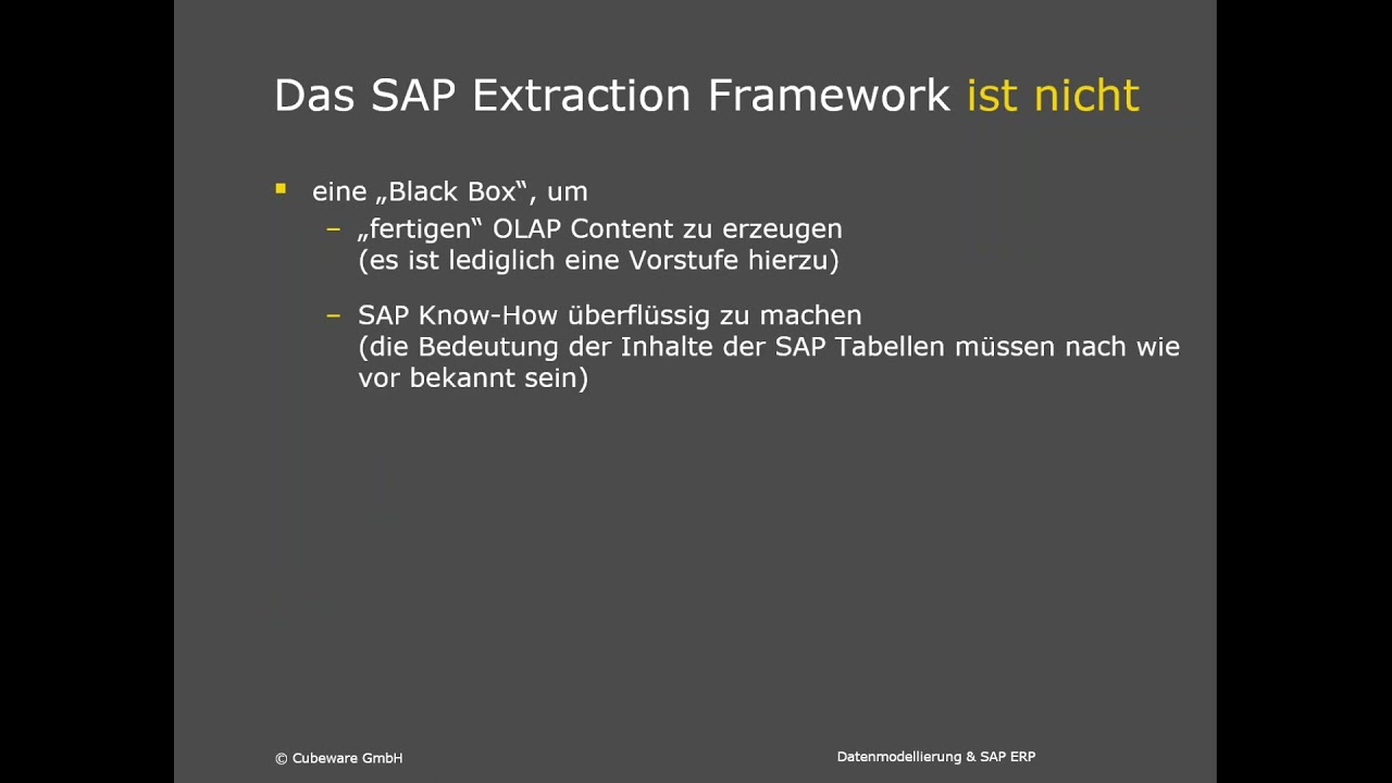 Cubeware Datenmodellierung SAP ERP - Machen Sie es sich nicht unnötig kompliziert