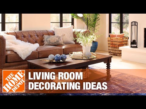 A video reviews different options for living room decorating ideas.