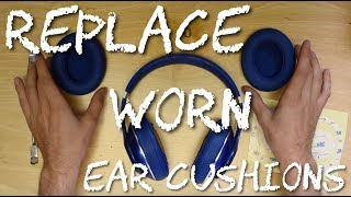 How to Replace Studio 2 Wired Wireless Beats By Dre Ear Pad Replacement Cushions