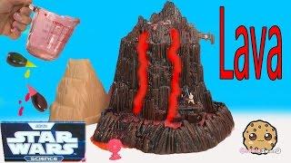 Star Wars Science Experiment Mustafar Lava Flowing Erupting Volcano Lab Toy Cookieswirlc Video