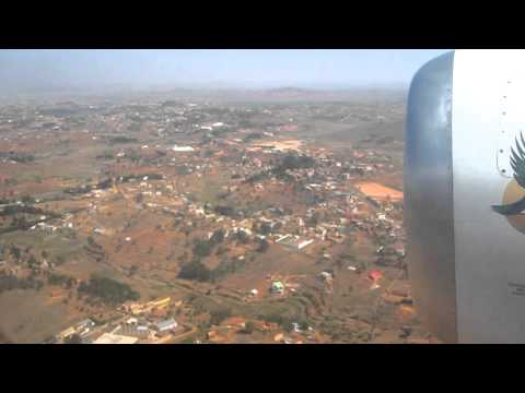 Landing at Antananarivo Airport (TNR), Madagascar