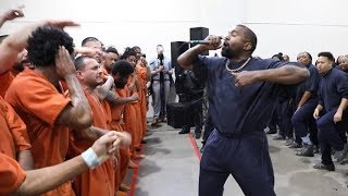 Kanye West performs in Houston jail with his Sunday Service choir