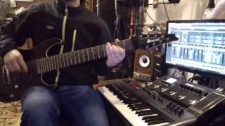 Popek x Matheo  - Wodospady (metal   guitar cover )