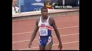 Men's 4x100m Relay Final at the Barcelona 1992 Olympics