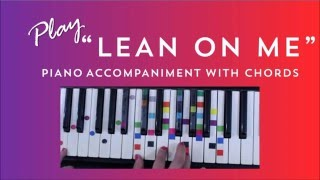 Lean On Me - Easy Piano Tutorial - Bill Withers