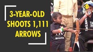 Chennai's 3-year-old P Sanjana shoots 1,111 arrows for Guinness World Record