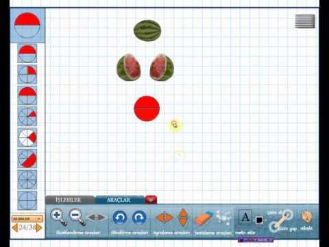1., 2., 3., 4., 5. sınıf için Akıllı Matematik aracı-Kesirler Örnek Ders-Edusoft