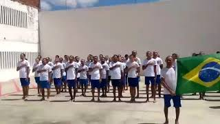 presidiarios BR CANTANDO HINO NACIONAL BRASILEIRO Bolsonaro Presidente 2018 dentro da cadeia presos