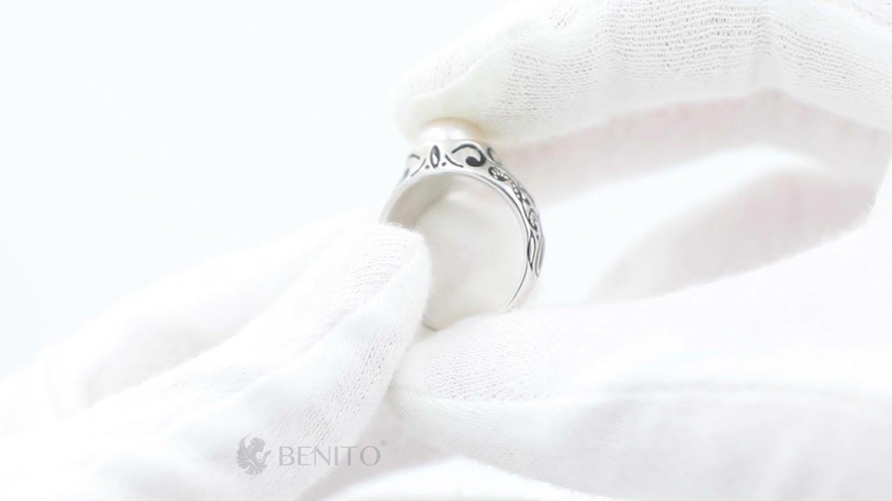 Zita Ring White Pearl