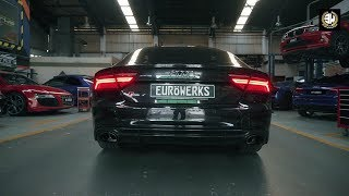 Audi RS7 Sportback V8 Scream w/ ARMYTRIX Cat-Back Exhaust By Eurowerks Sdn Bhd
