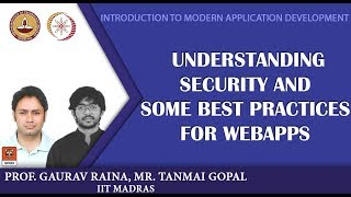Module 14: Understanding security, and some best practices for webapps width=