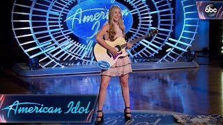 Harper Grace Auditions for American Idol With Down-home Original Tune - American Idol 2018 on ABC width=