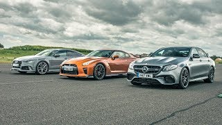 Nissan GT-R vs Audi RS7 vs Merc E63 AMG | Drag Races | Top Gear