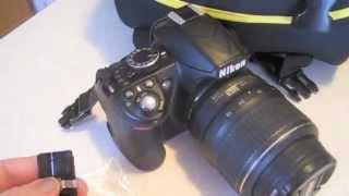 Before: Nikon D3100 Broken SD Card Door