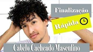 FINALIZAÇÃO RÁPIDA PARA CABELO CACHEADO MASCULINO