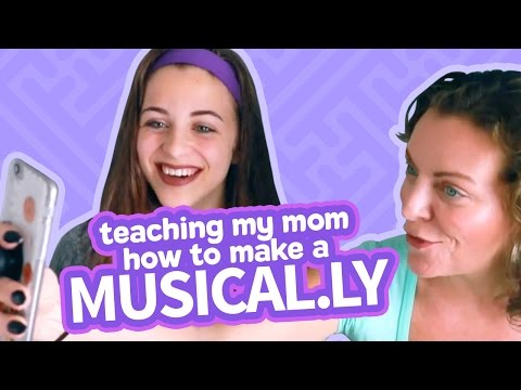 TEACHING MY MOM HOW TO MAKE A MUSICAL.LY | Baby Ariel musical.ly video