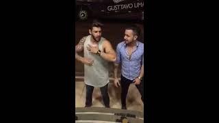 Gustavo Lima bêbado - Imitando Eduardo costa e Bruno e marrone