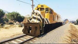 GTAV - Tentando parar o trem na Live do Cavaco