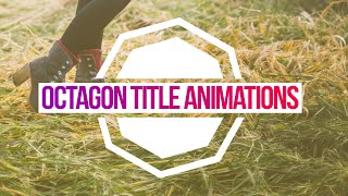 TRENDY POLYGON TITLE ANIMATIONS