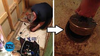 Kakek ini Tak Sengaja Membuka Lubang ini Di Lantai Rumahnya, Ternyata Isinya Sangat Mengejutkan !