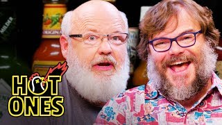 Tenacious D Gets Rocked By Spicy Wings | Hot Ones width=