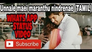 WATSAPP STATUS VIDEO - Unnale maei maranthu nindrene#NAYAN and AARYA/(RAJA RANI)!!