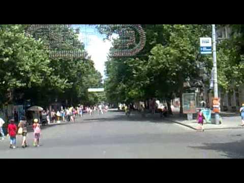"Zentrale Einkaufstraße ""Sovietskoe"" in Mykolaiv I"