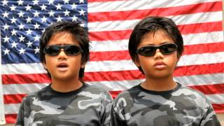 """""""God Bless the USA"""" cover by 8-year old twins"""