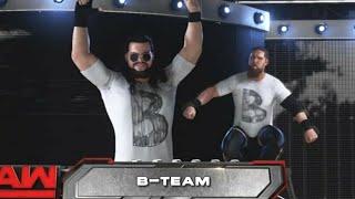 "B Team Entrance W/ 2018 Theme ""BattleScars"" - WWE 2K18"