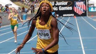 Cha'iel Johnson Runs Crazy 55.8 In 13-Year-Old 400m!