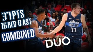 Luka Doncic & Dennis Smith Jr.🔥Duo Highlights vs Hawks - Dallas Mavericks - 24.10.18