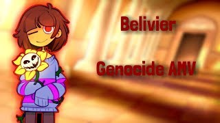 Undertale Genocide route AMV(Believer Nightcore female version)