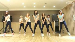 AOA - Short Hair - mirrored dance practice video - Ace of Angels - 에이오에이 단발머리 안무영상